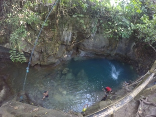This is the cave pool